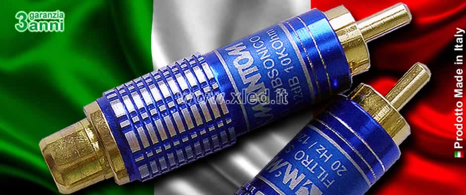 Filtro Subsonico In Linea RCA - Made in Italy